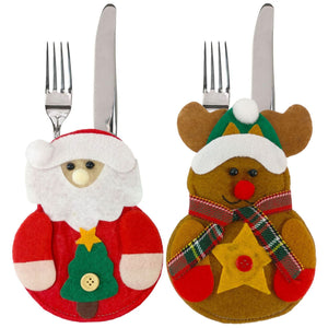 Christmas Kitchen Decorations Cutlery Bags