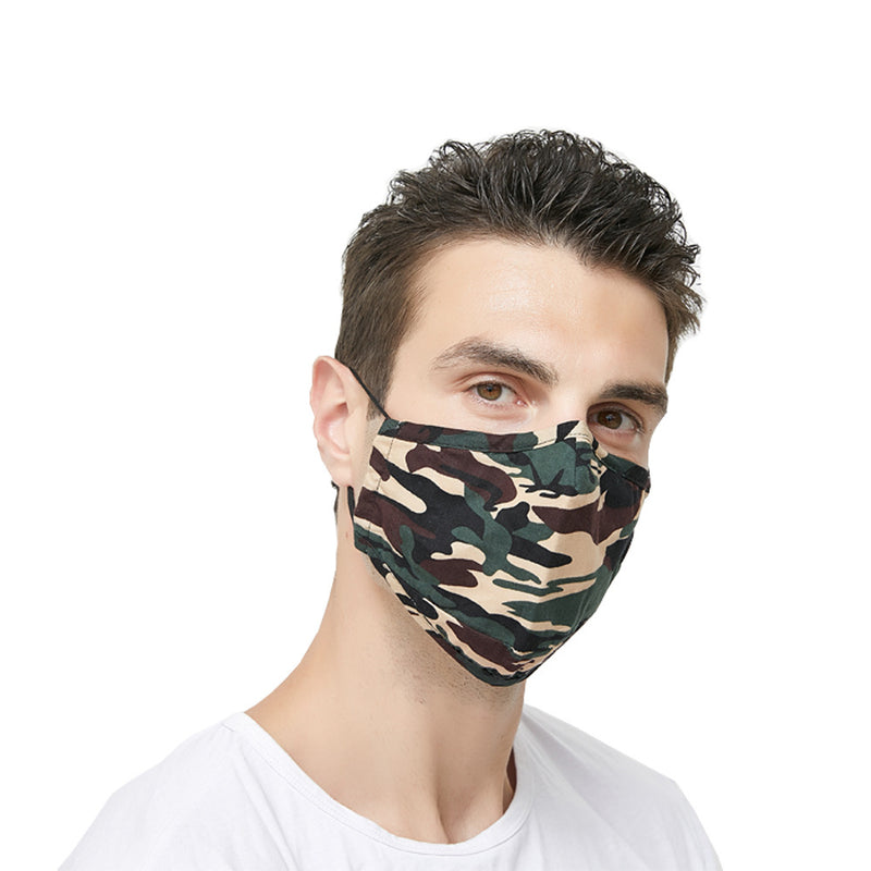 Camouflage Color Reusable Cotton insertable PM2.5 Filter Mask