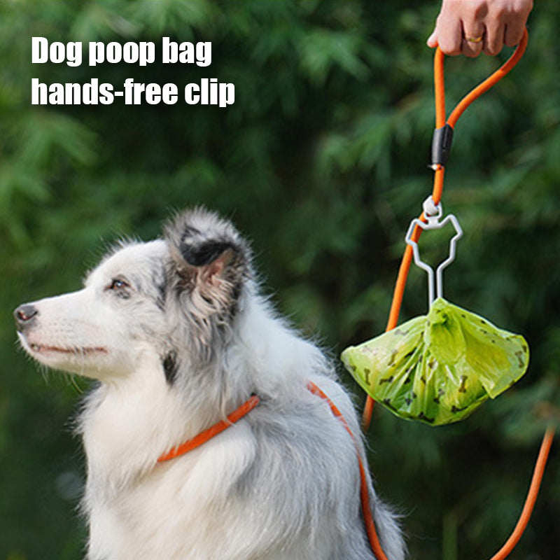 Hands Free Dog Poop Bag Holder Fit Any Leash(2Pcs)