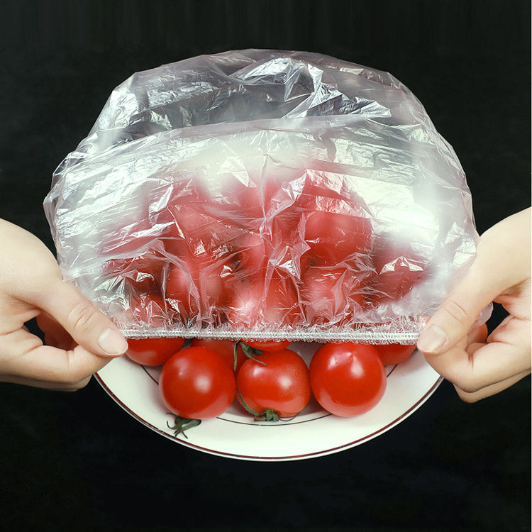 100Pcs Food Grade Plastic Bag Fresh-Keeping Cover