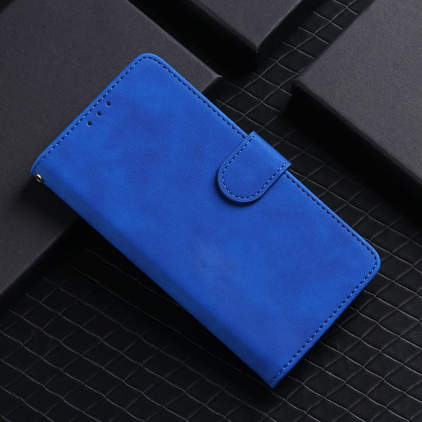 Pure Color Skin Feel Flip Leather Case For Samsung A50