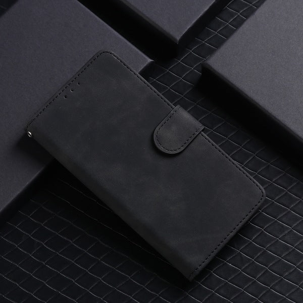 Pure Color Skin Feel Flip Leather Case For Samsung A01