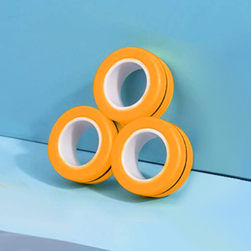 2020 All-new Stress Relief Finger Magnetic Rings Toy(3PCS)