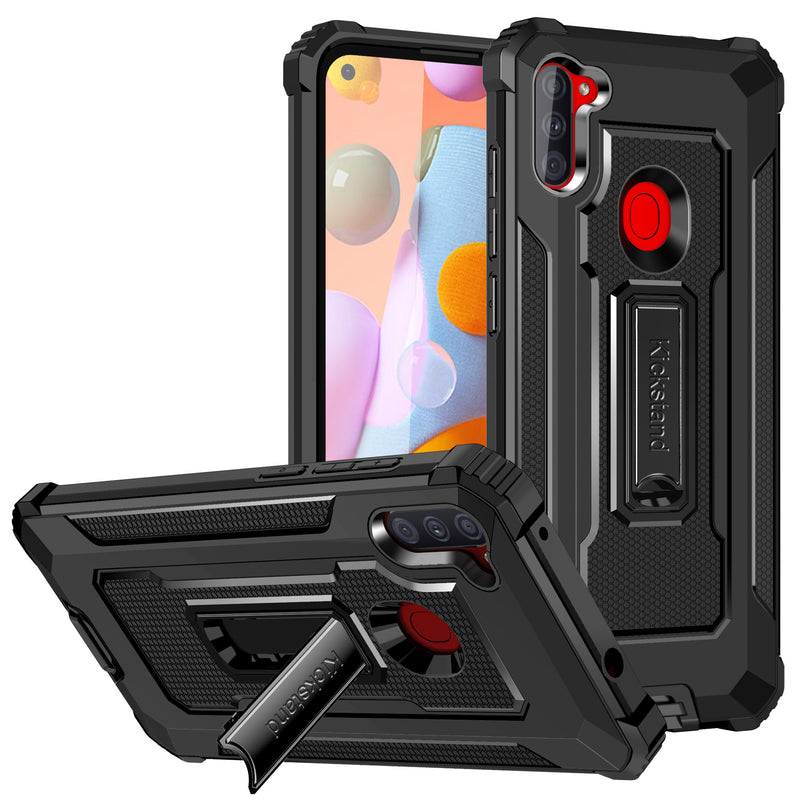 Strong Anti-Fall Metal Kickstand Phone Case For Samsung A11