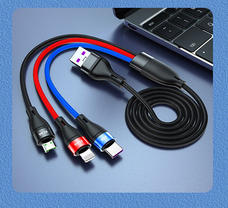 Super Charge 3in1 USB Cable(5.0A Max)