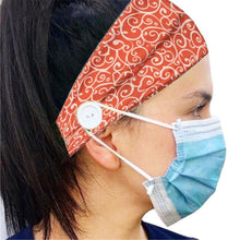 Load image into Gallery viewer, Button Headband Ear Protection for Mask Non-Slip Elastic Hair Bands