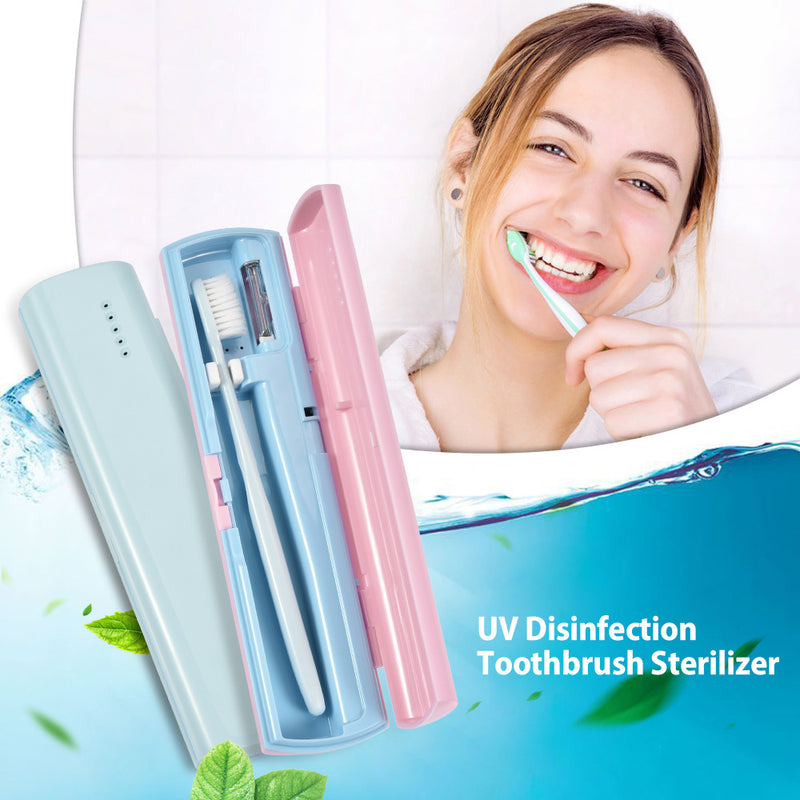 Portable Rechargeable Toothbrush Sanitizer Case