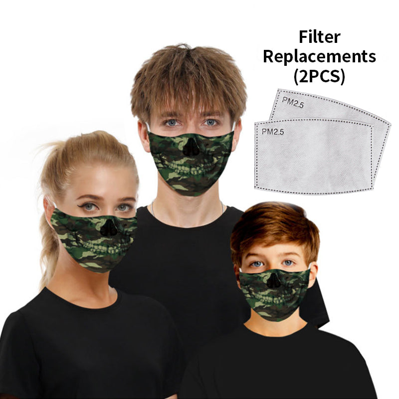 Fashion Cotton Breathable Protective Mask With 2 Filters(For Adult and Child)
