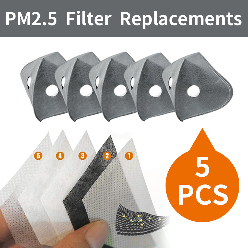 PM2.5 Filter Replacements(Apply to Protective Sports Masks)