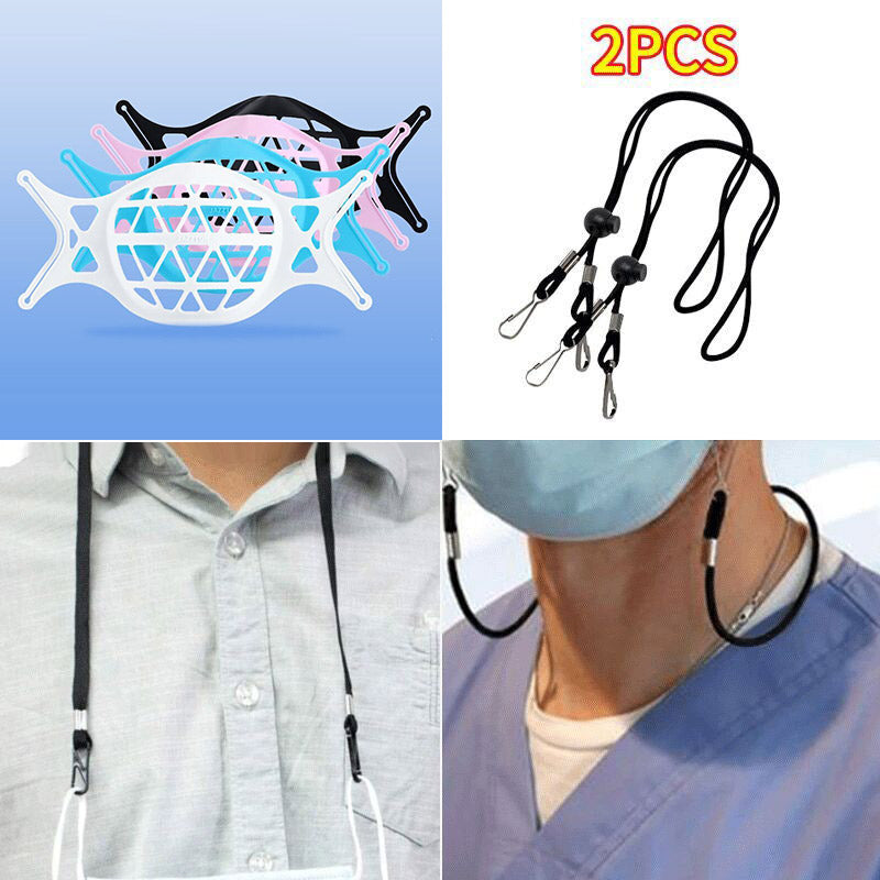 3D Wearable Mask Bracket(3Pcs/6pcs/9pcs)