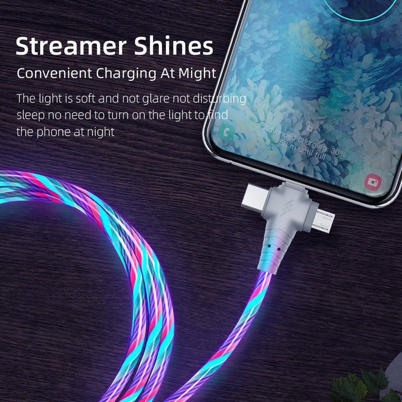Upgraded 3in1 Flow Luminous Lighting USB Cable