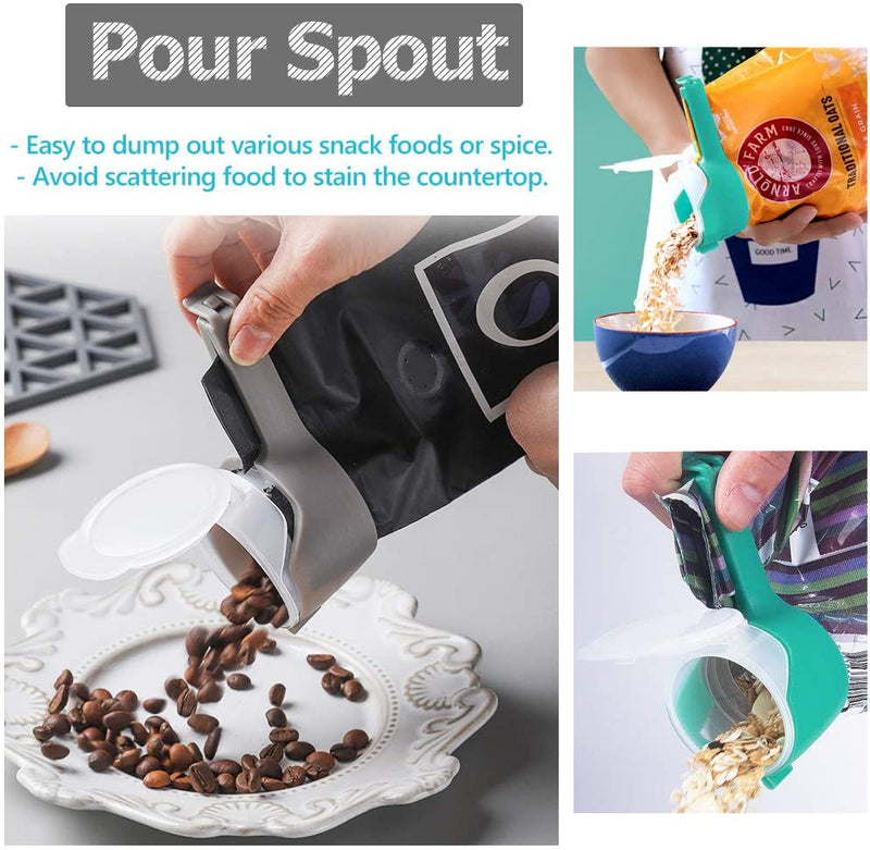 Bag Clips for Food with Pour Spouts(2PCS-6PCS)