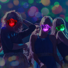 Load image into Gallery viewer, 7 Color Rechargeable LED Rave Mask