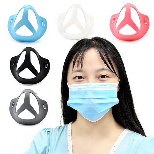 New Silicone Benz Design Mask Bracket Not Fall Off&Breathing Smoothly(3PCS)