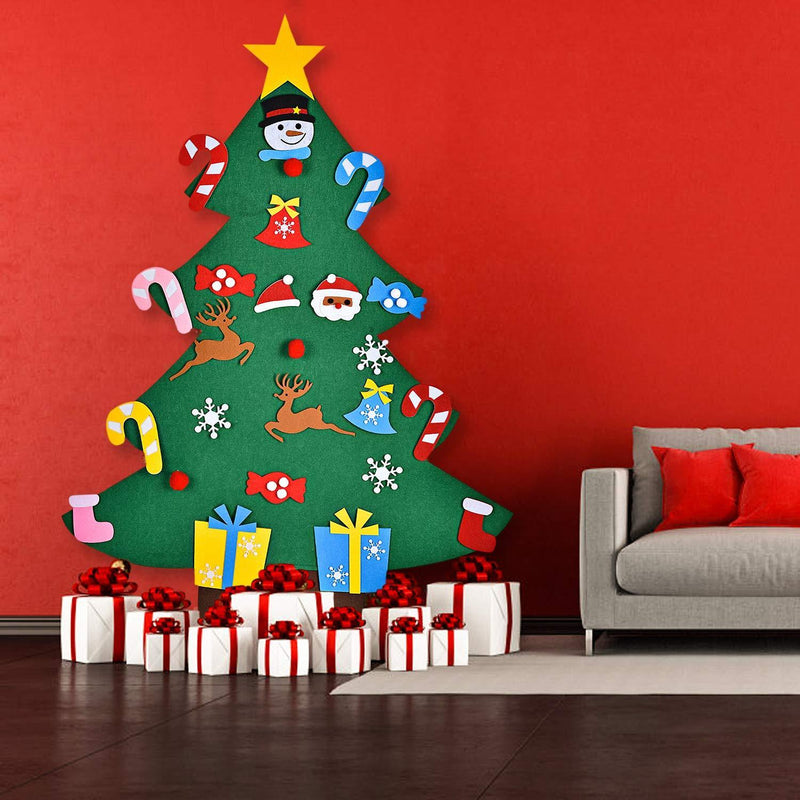 DIY Christmas Tree With Ornaments For Children