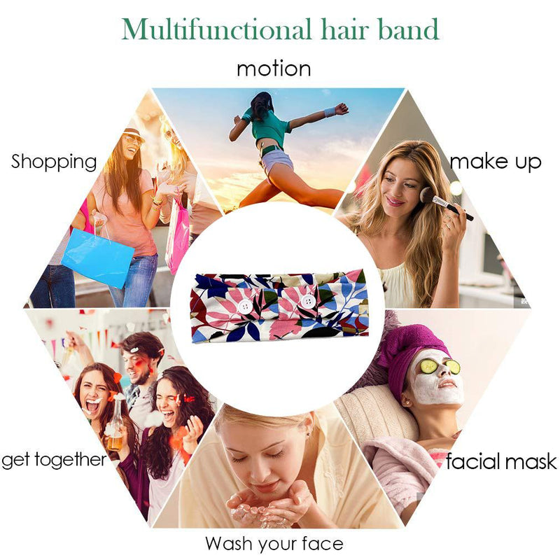Button Elastic Hair Bands For Ear Saver