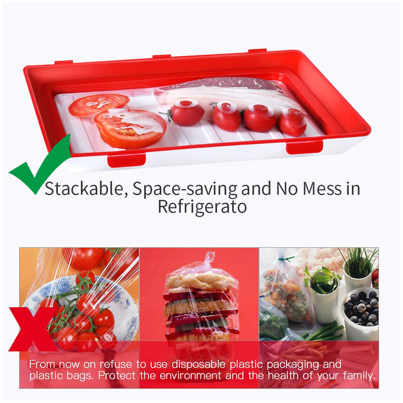 Food Preservation Tray Vacuum Seal, Stackable and Reusable, BPA Free