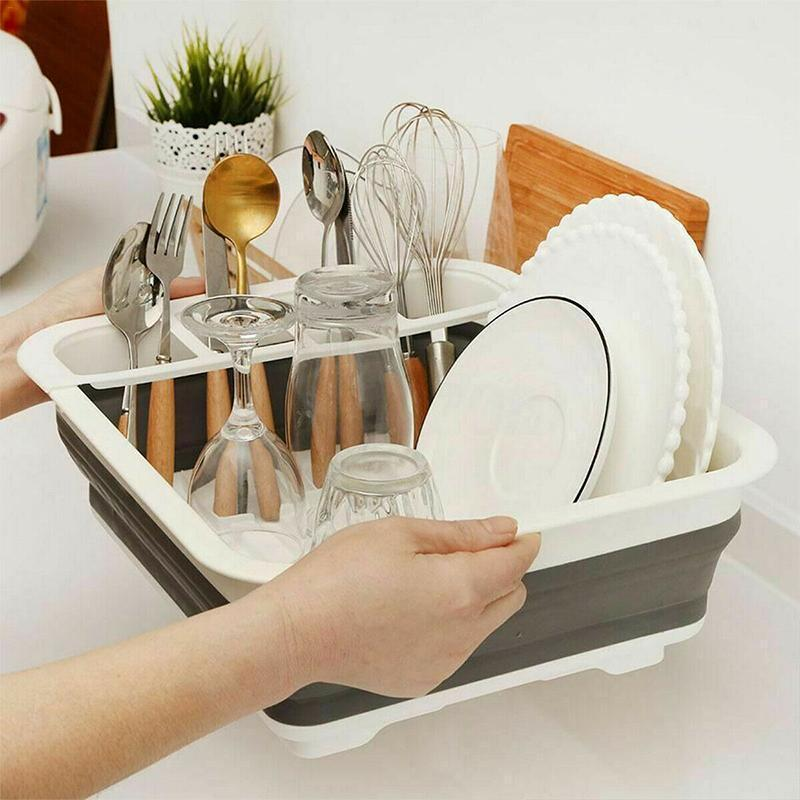 Foldable Dish Rack KITCHEN TOOLS smartsaker