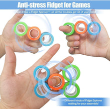 Load image into Gallery viewer, 2020 All-new Stress Relief Finger Magnetic Rings Toy(3PCS)