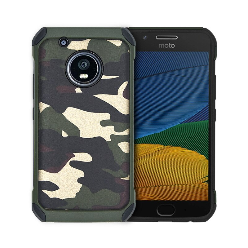 Army Camouflage Shockproof Back Cover For MOTO