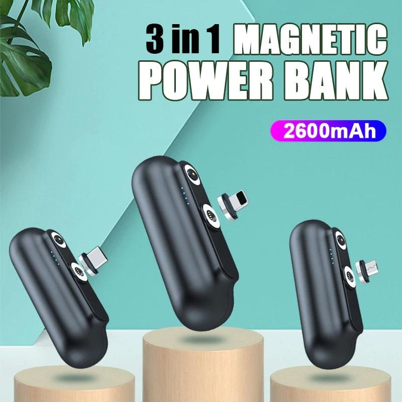 Magnetic Mini Portable Power Bank