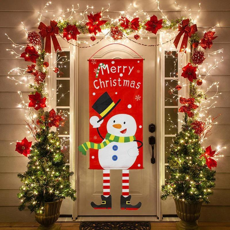 Merry Christmas Porch Sign Decorative Banner