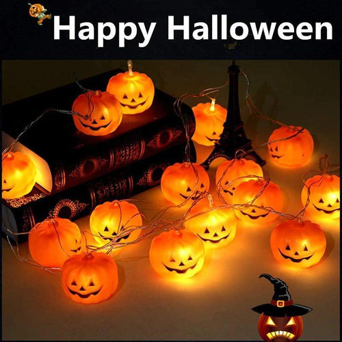 Halloween LED Pumpkin Lantern Lights String