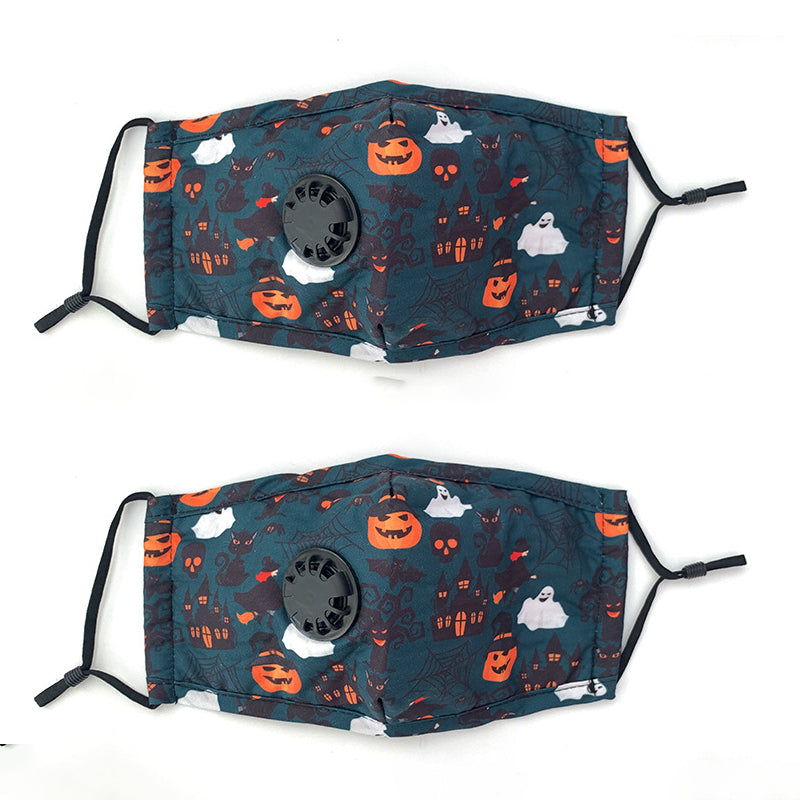 Breathable Protective Halloween Mask(2Pcs)