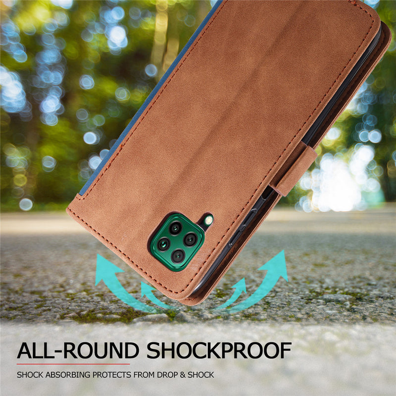 Shockproof Retro Wallet Case For HUAWEI P-Series