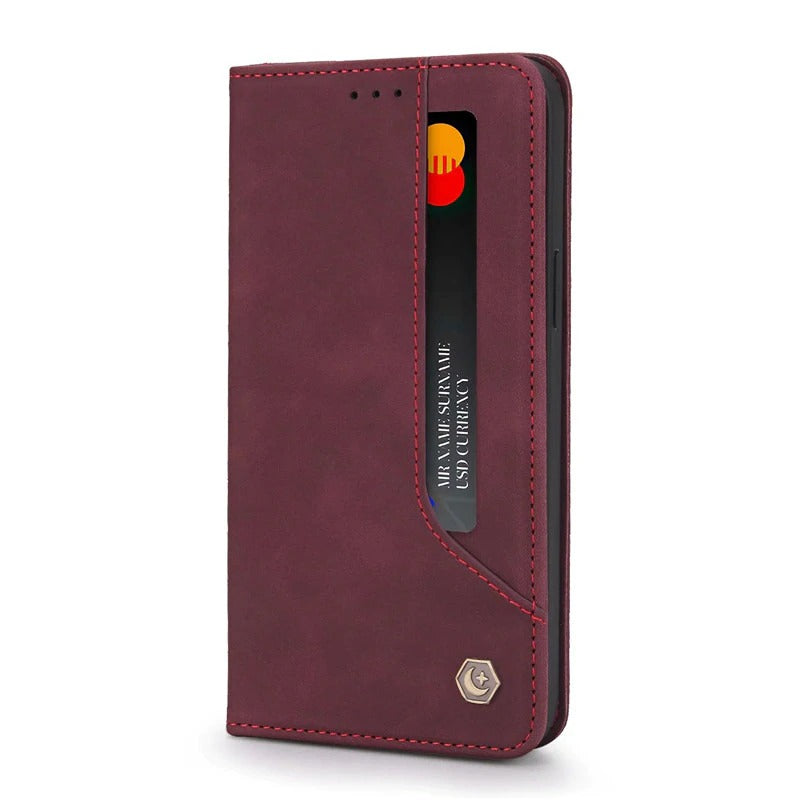 Retro Classic Magnetic Wallet Case For Samsung S-Series