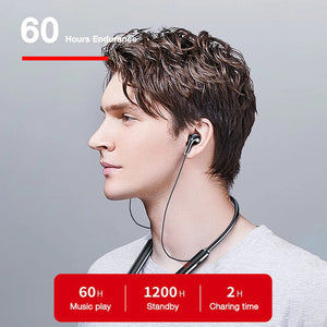 Stereo Bass Wireless Headphone Neckband Power LED Display