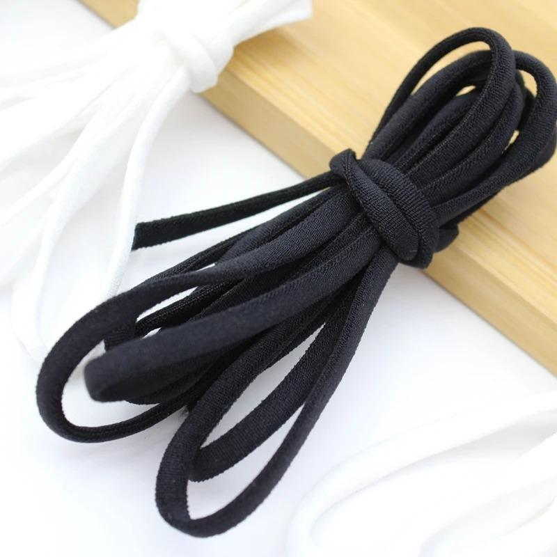 3.5mm Flat Elastic Mask Strap String/Soft EarTie Rope(50 yards)