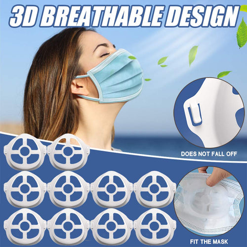 3D Silicone Mask Brackets Increase Breathing Space