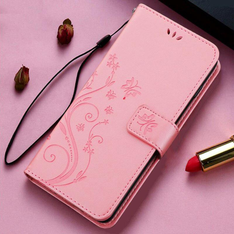 Galaxy Note10 Lite PU Leather Embossed Butterfly Flower Case With Wrist Strap