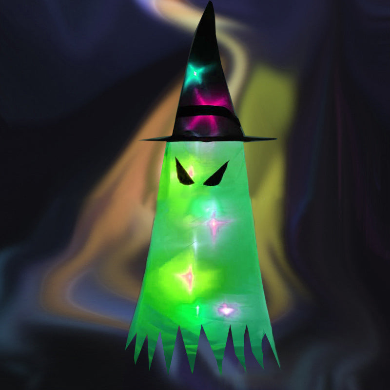 Unique Halloween Hanging Lighted Glowing Ghost Hat