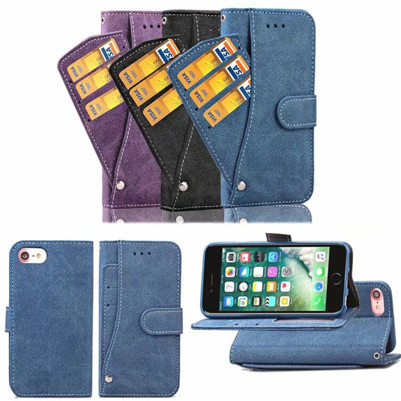 Stand Kickstand Rugged Flip Cover Matte rotating card phone holster For LG