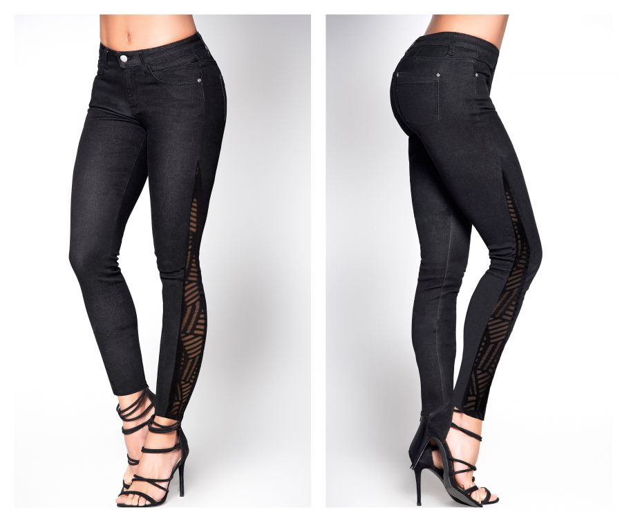 Butt Lifting Jeans with Mesh Detail