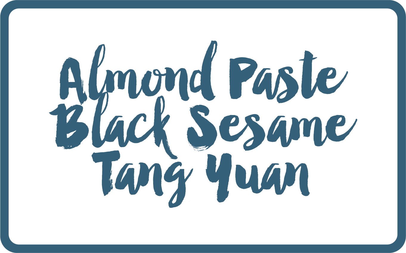 Almond Paste Black Sesame Tang Yuan gelato - Butterknife Folk artisanal gelato - ice cream gelato delivery Singapore