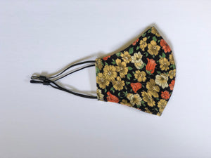 4. Fall Flowers - Adjustable Ear Straps