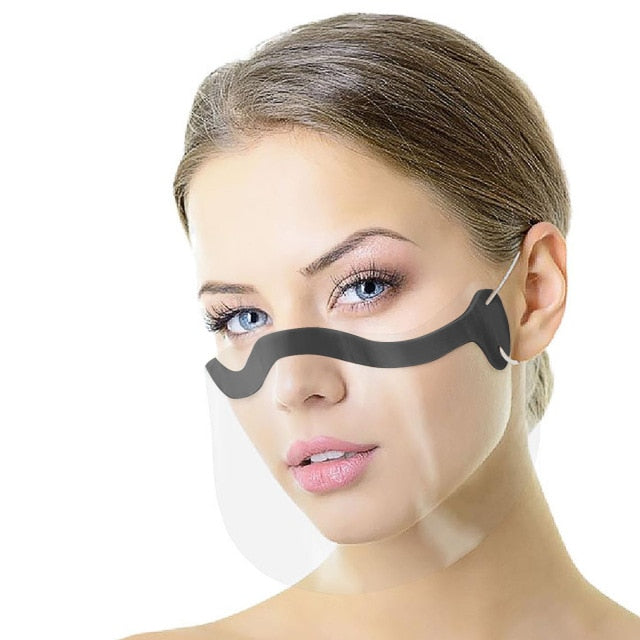 Clear Transparent Face Mask Unisex - Every Mask Counts