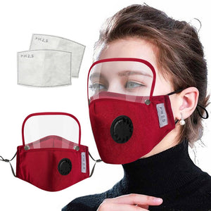 Mask + eye protection + filter - Every Mask Counts