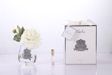 Cote Noire Tear Drop Tea Rose -Clear Glass -Ivory White- STR01 freeshipping - Eliza Moore Boutique