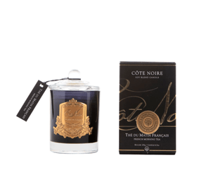 Cote Noire 185g Soy Blend Candle- French Morning Tea -Gold- GML18501 - Eliza Moore Boutique