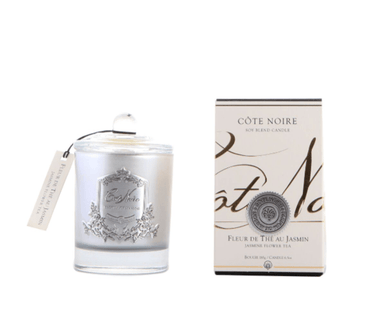 Cote Noire 185g Soy Blend Candle - Jasmine Flower Tea- Silver- GMS18520 freeshipping - Eliza Moore Boutique