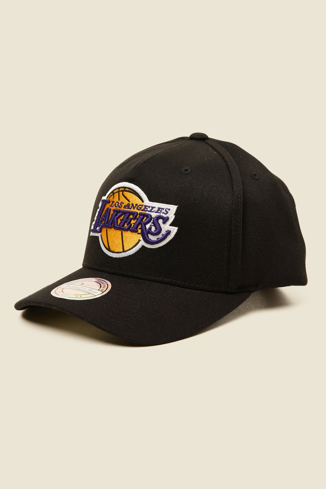 Mitchell & Ness Lakers 110 Pinch Snapback - Black/Team Colour