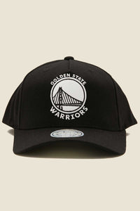 Mitchell & Ness Golden State Warriors 110 Pinch Cap - Black/White