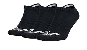 Nike SB Men's 3-Pack No Show Socks -  Black/White