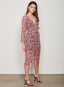 WISH Ladies Florence Midi Dress - Multi