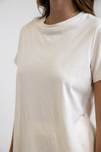 Rhythm Ladies Classic Boyfriend Tee - White