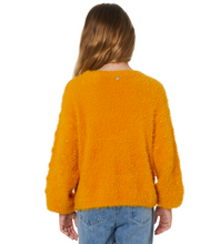 Load image into Gallery viewer, Eve Girl Bobble Fluffy Knit - Mustard
